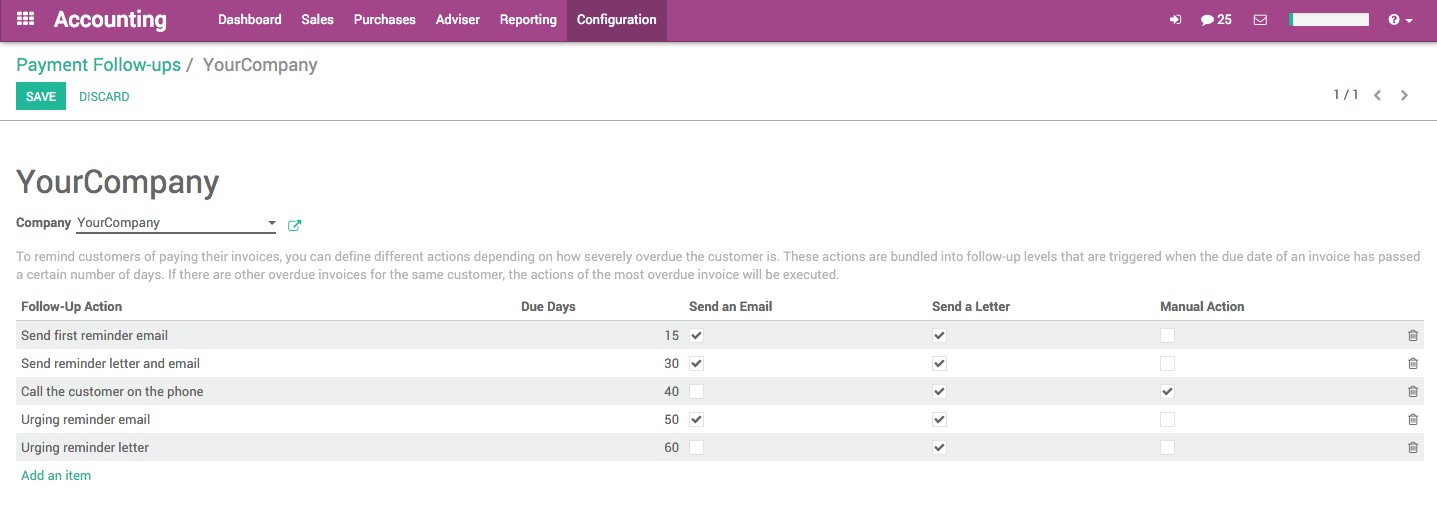 Odoo Invoice Follow Up