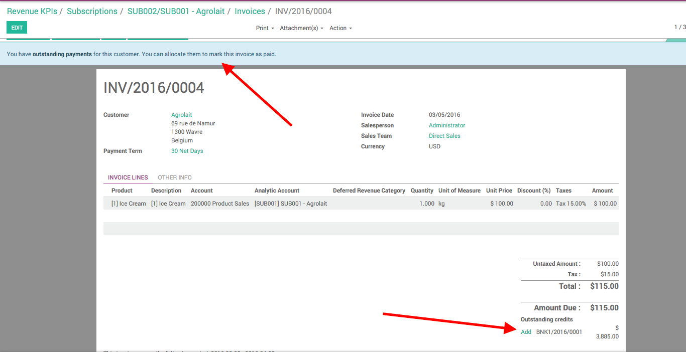 Odoo reconcile payables and receivables