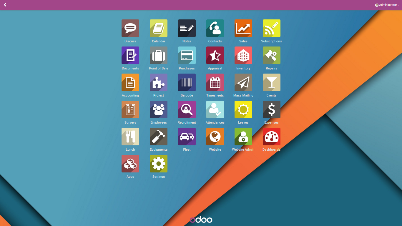 Odoo9EnterpriseHome